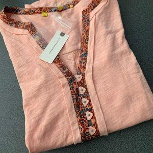 Anthropologie NWT coral shirt